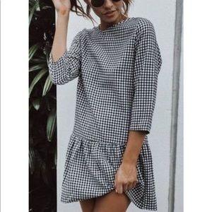 Gingham Zara dress. Size M.